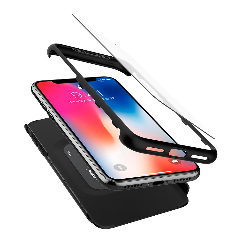 Чехол SGP Spigen Thin Fit 360 для iPhone X чёрный
